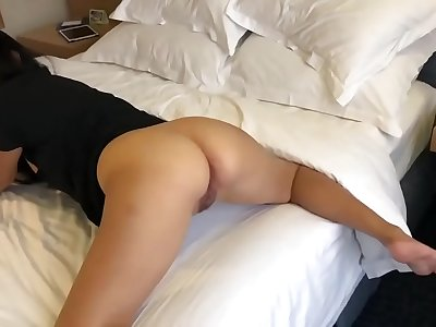 Asian Nerd Play With Her Vagina