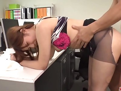 Yumi Maeda gets nasty at work and fucks her manager