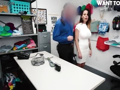 Making McKenzie Lee Naked In Back Office