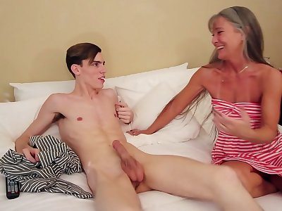 Old Mummy Fucks Son Because of Blackmail