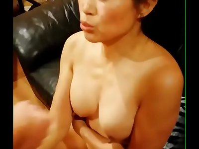 Chinese American Mom Taking Fat Jizz flow From Big White Dick