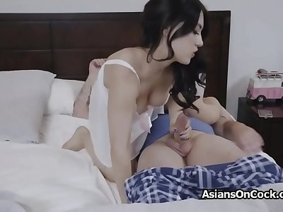 Quarantine makes Asian roomie horny for dick