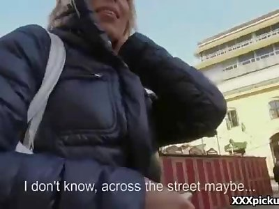 Public Fuck In Europe For Some Money In The Street 01