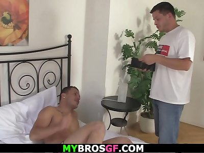 He fools brothers gf into cheating dick railing