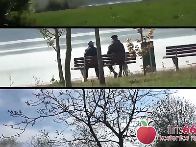 CHUBBY cock-craving Samantha Smooch gets her meaty cunt POUNDED at a nice lake! (GERMAN) Flirts66.com