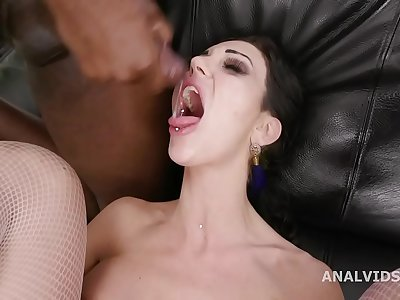 All in! Laura Fiorentino Vs 2 Big black cock with Nutsack Deep Anal, DAP, Squirting, Ass fucking Going knuckle deep and Gulp GIO1615