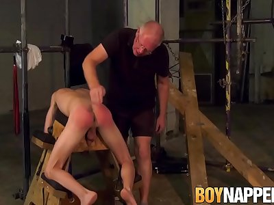 Sadism & Masochism lad Jesse Evans spanked and ballsack drilled with chain