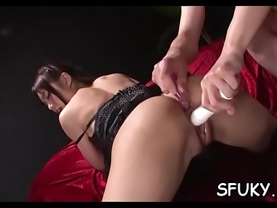 Sultry exotic maid Megumi Shino got so that she had to masturbate