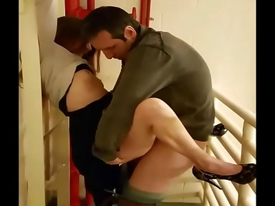 30-ish Mummy Jessica Clothed Fuck in Office Stairwell