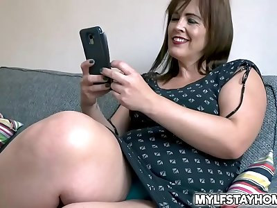 Hot Redhead Mummy Montse Swinger desperate for some dick so she had hook-up with her neighbor and liked a hot fucking session that mitt in a cumshot.
