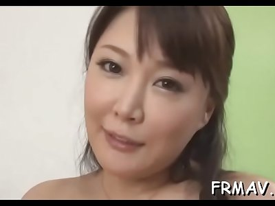 Oral job from provocative japanese