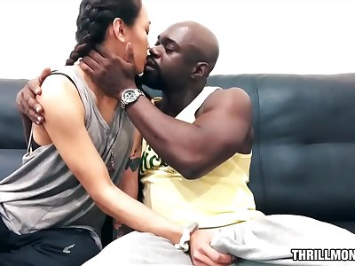 Thrilly's Big Black Couch - Aria Skye