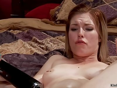 Big pouch blonde sapphic anal invasion toyed