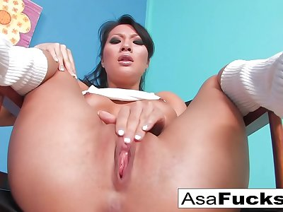 Asa Akira looks sexy in this hot gonzo solo