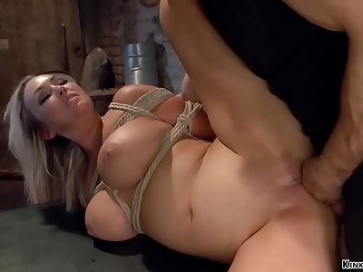 Enslaved big tits Mummy rough banged