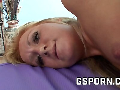 Sexy blonde Nikki Blake penetrated by a rough dick