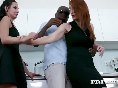 Private.com - Step Mommy Isabelle Lui Shares Big black cock With Hot Freya Dee!