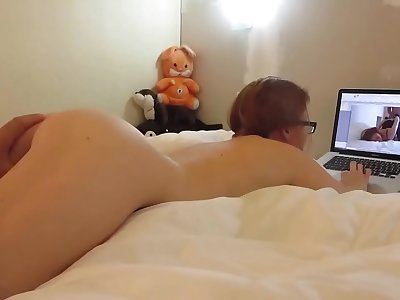 Russian caught by Fat Hard-on watching pornography