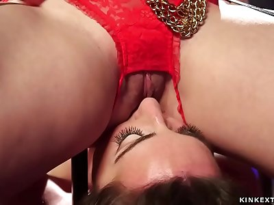 Sapphic squirter tied whipped