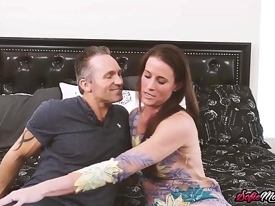 Mature Stunner Sofie Marie Eaten Out and Smashed by Strung up Stud