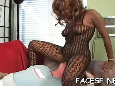 Nice beauty gets fully pleased