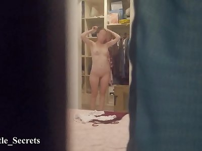Spying Neighbour Caught Me Naked While I'm Switching Clothes  Inexperienced