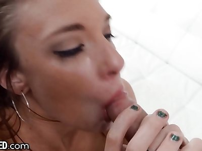 Throated - Sexy Redhead Face Fucked & Deepthroated