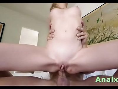 Marvelous blonde sweetie Angel Smalls adores playing with her bean