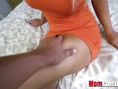 Blonde Big-titted Mom With Big Pouch Fucks Horny Son- London Rivers