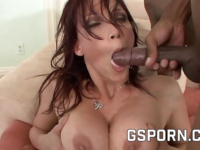 Nicki Hunter and Lola Foxx fucked by a Big black cock