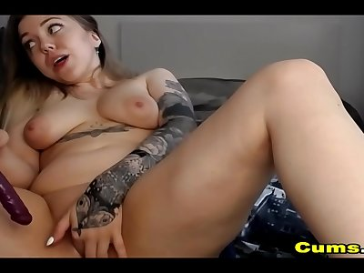Adorable Chick Plays with Her Taut Beaver