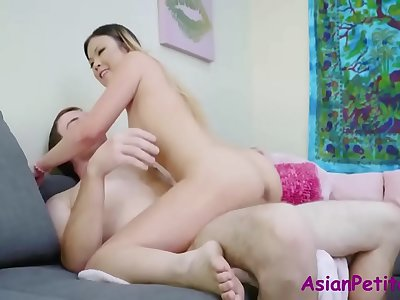Lil\' Asian Teenage Gets Gets Lovemaking Education- Lulu Chu