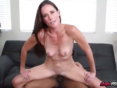 Exhibitionist Mummy Sofie Marie Hammered by Youthfull Big black cock At Home