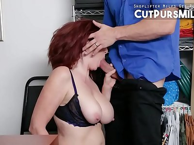 Mature Redhead Shoplifter Andi James Fucked And Disciplined
