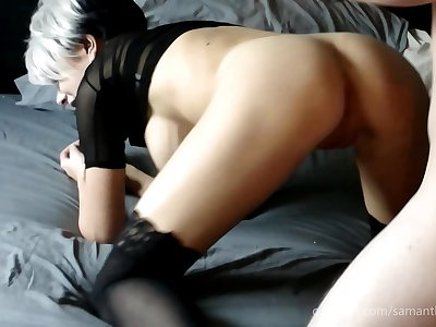Stepdaughter squirts when fucked by Daddy - Samantha Flair